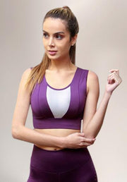 VERTICAL BRA - PURPLE