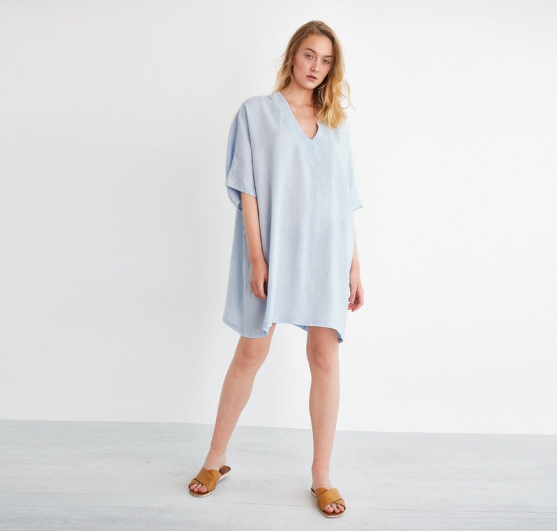 April Tunic Linen Dress
