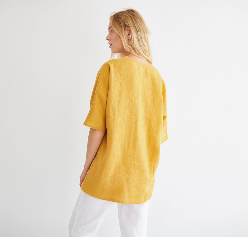 Florence Linen Tunic Top