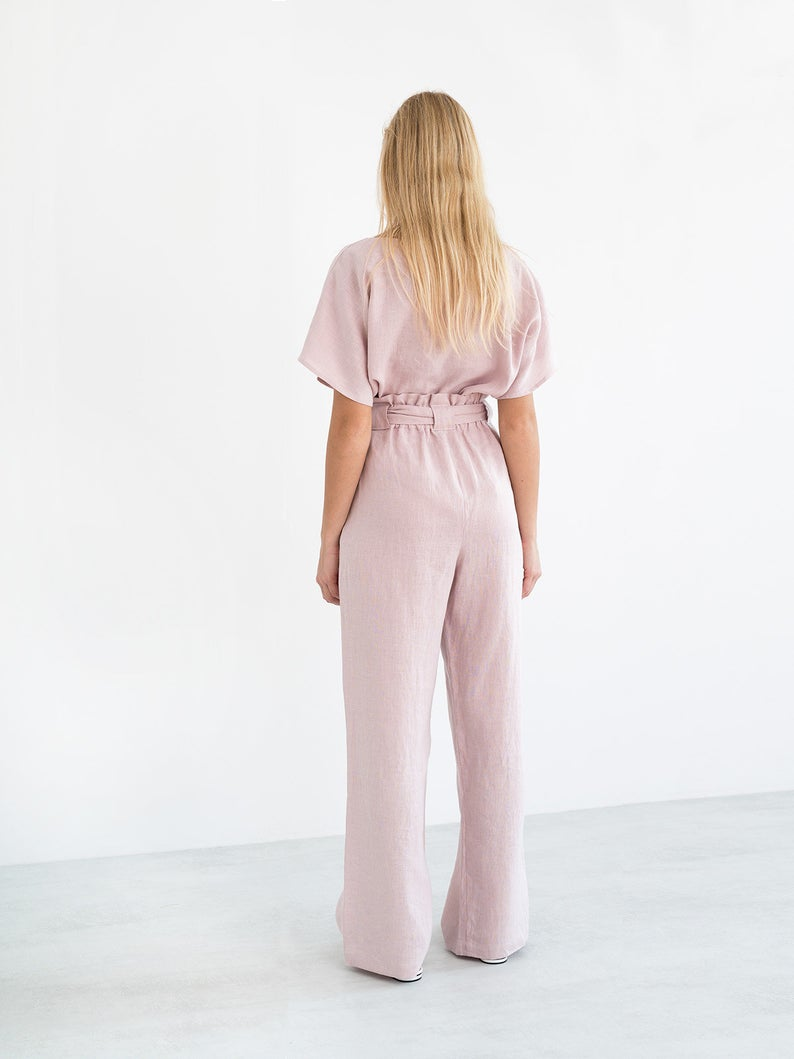 Juliet Wide Leg Linen Pants