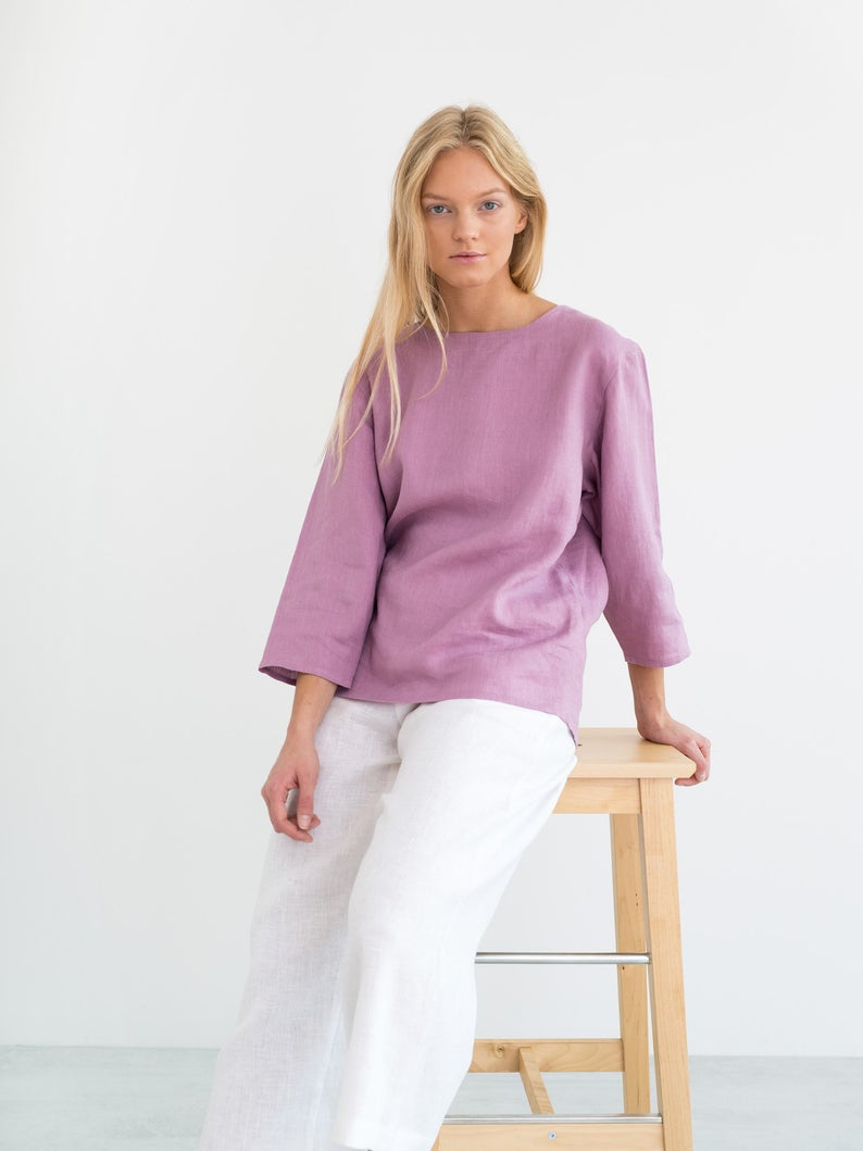 Stella Simple Linen Top