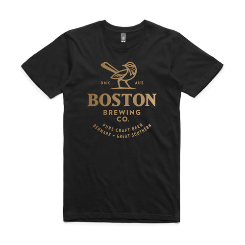 Boston Brewing Co. - Men's Black T-Shirt Large Logo
