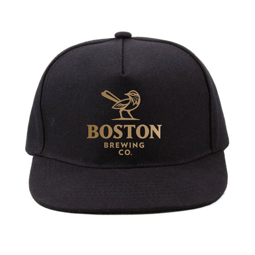 Boston Brewing Co. - Black Cap with Embroidered Gold Stitching