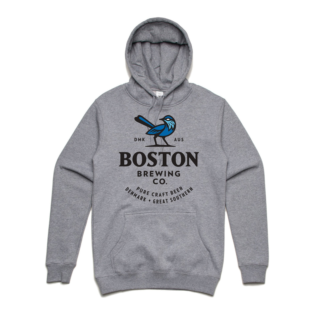 Boston Brewing Co. - Grey Hoodie Large Colour Logo
