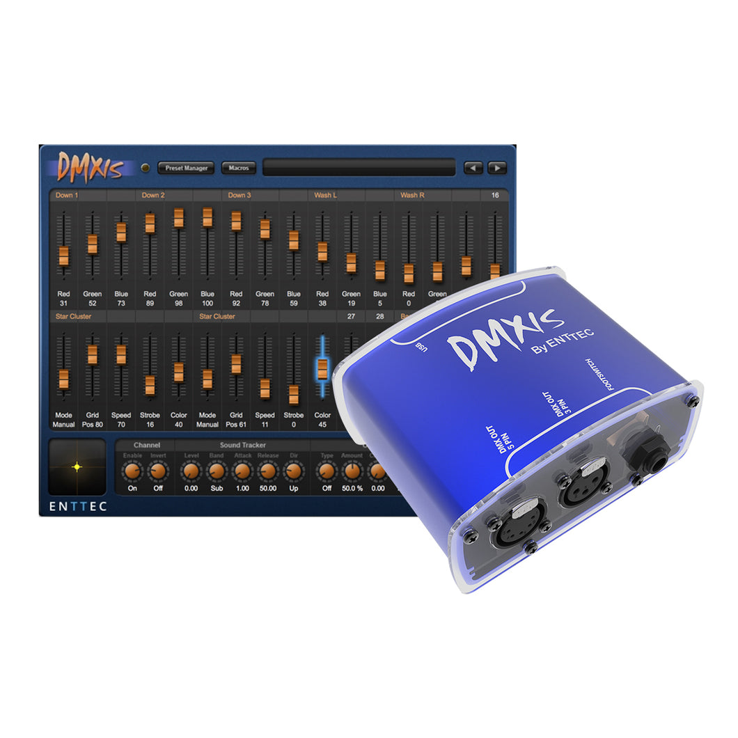 Enttec DMXIS 70570 DMX USB Interface Controller & Software