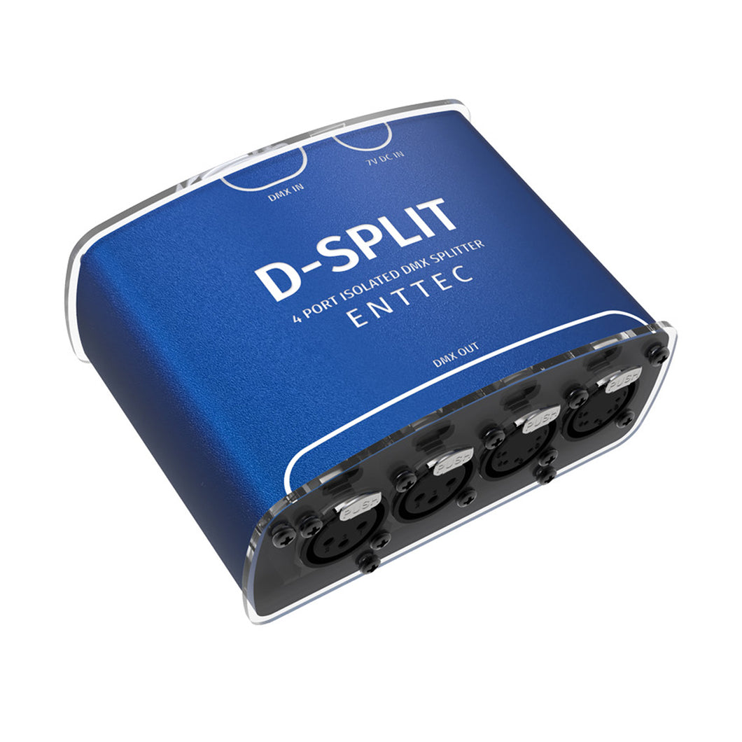 Enttec D-Split 70572 DMX 4 way Splitter Isolator