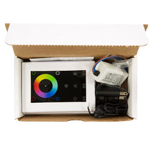 Load image into Gallery viewer, RGB & RGBW LED Touch DMX Wall Mounted Controller Kit - White