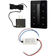 Load image into Gallery viewer, White & Single Color LED Touch DMX Wall Mounted Controller Kit - Black