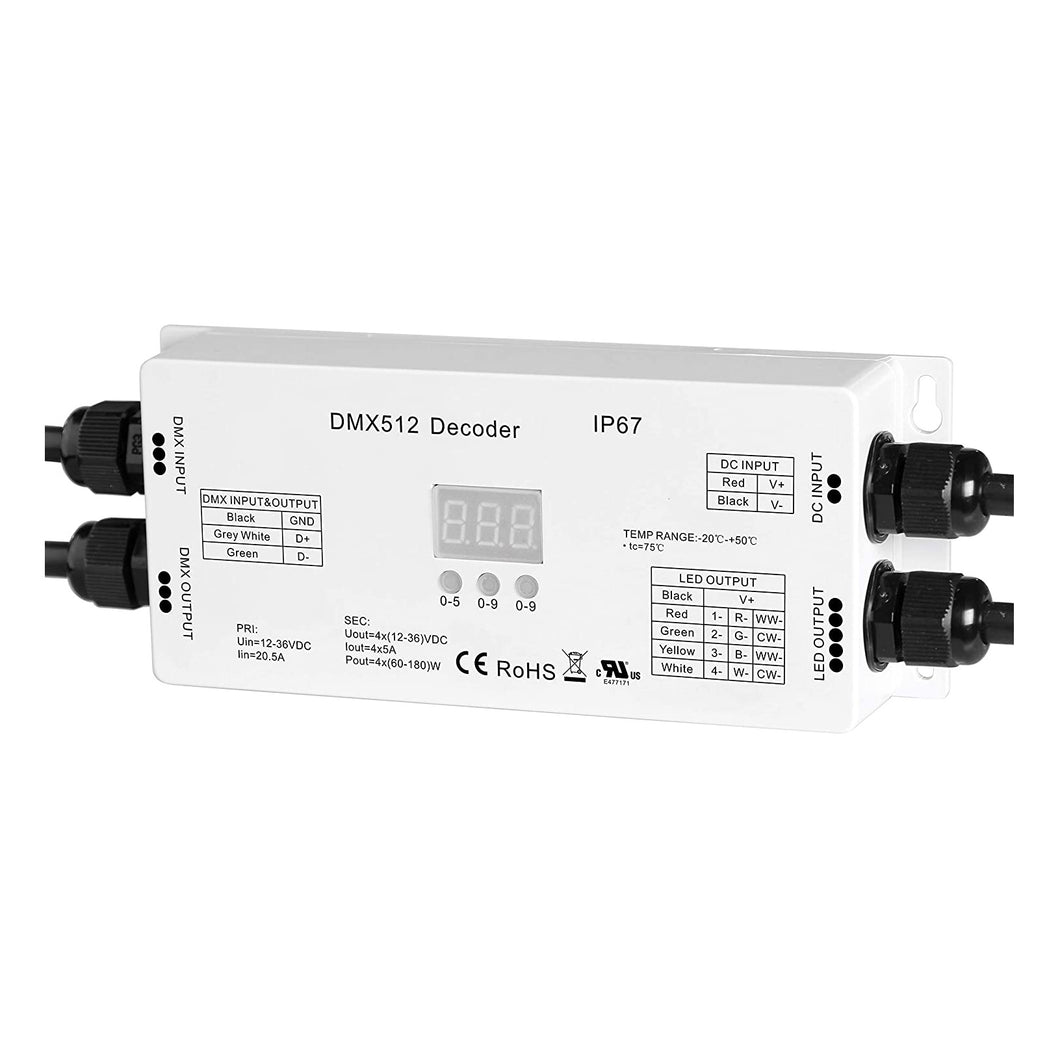 4 Channel DMX Waterproof LED Strip Decoder