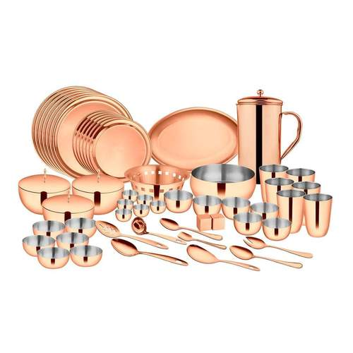 72 PCS Rose Gold Dinner Set with PVD Coating (6 People) - Majestic