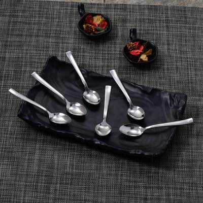 6 PCS Snack Spoon - Lotus Plain