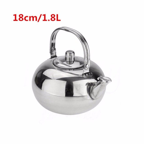 1pc Mayitr 14/16/18/20cm Stainless Steel Teapot Coffee Pot with Tea Leaf Infuser Filter Convenient Tea & Coffee Pots