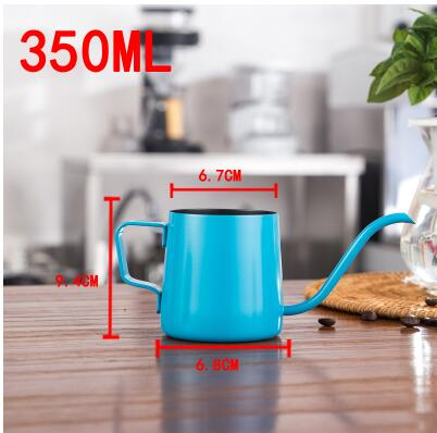 New long mouth Moka Pot stainless steel teapot  espresso coffee pitcher Barista Craft Coffee Milk frothing Jug drink accessories