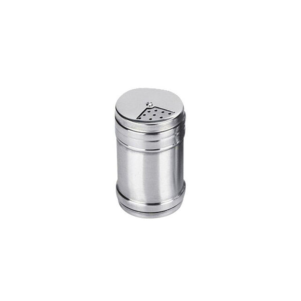 Stainless Steel Seasoning Can with Rotating Cover Kitchen BBQ Spice Jar Salt Pepper Pot Seasoning Storage Box Seasoning Bottle