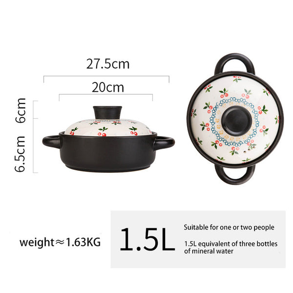 MDZF SWEETHOME Ceramic Soup Stewpot Stewing Casserole Clay Ceramic Cooking Pot Ceramic Cookware