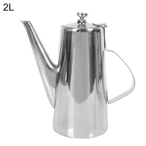 1.5/2L Family Accessories Stainless Steel Coffee Kettle Coating Long Mouth Spout Teapot Water Jug Home Kitchen Tool