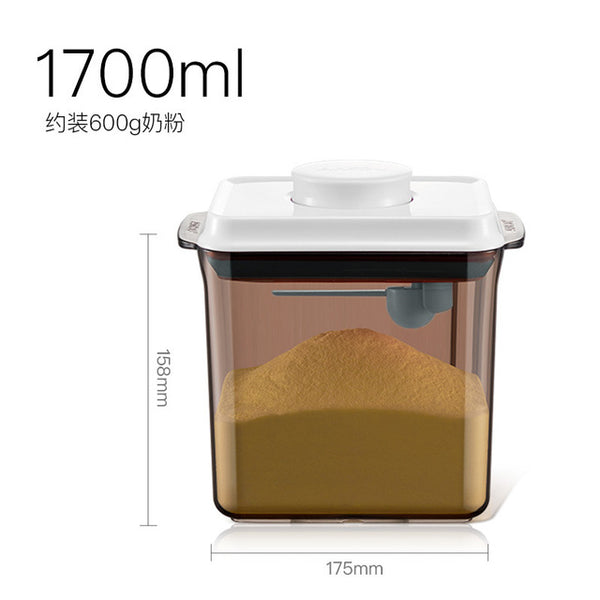 Plastic Sealed Canister Milk Powder Can Storage Tank Jar Kitchen Storage Box Airtight Food Cans Rice Flour Food Supplement Box