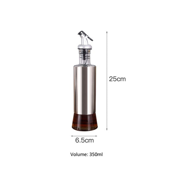 Kitchen Olive Oil Cruet Bottle Vinegar Dispenser Oil Container No-drip Double Wall Cooking Oil Dispensering Bottle Dishwash Safe
