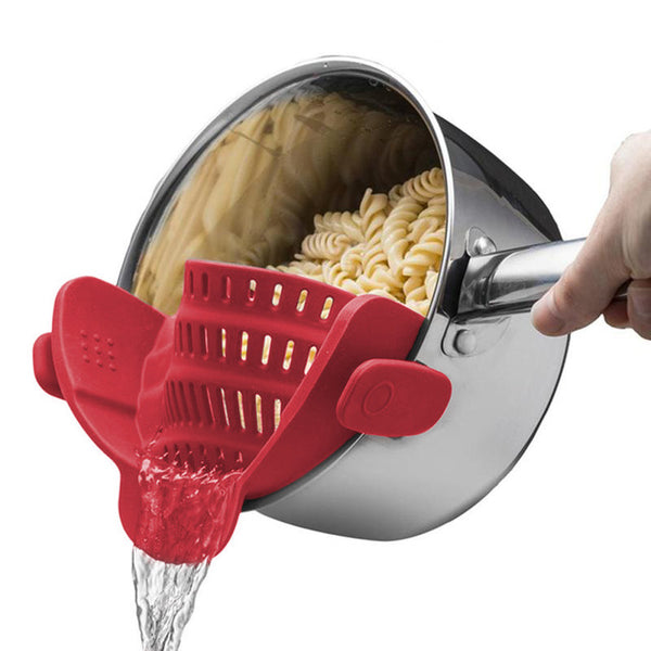 wider biger Silicone Pot Pan Bowl Funnel Strainer Kitchen Rice Washing Colander Kitchen Accessories