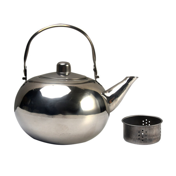 Kettle Restaurant Induction Cooker Teapot Durable Stainless Steel With Filter Home Coffee Maker Ball Shape Hotel Safe