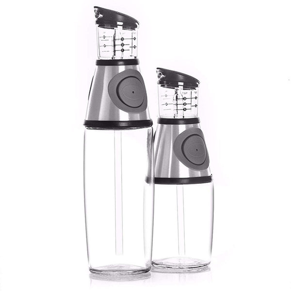 2pcs/set 9/17oz Olive Oil Dispenser Bottle Set Oil Vinegar Cruet with Drip-Free Spouts Kitchen Gadgets