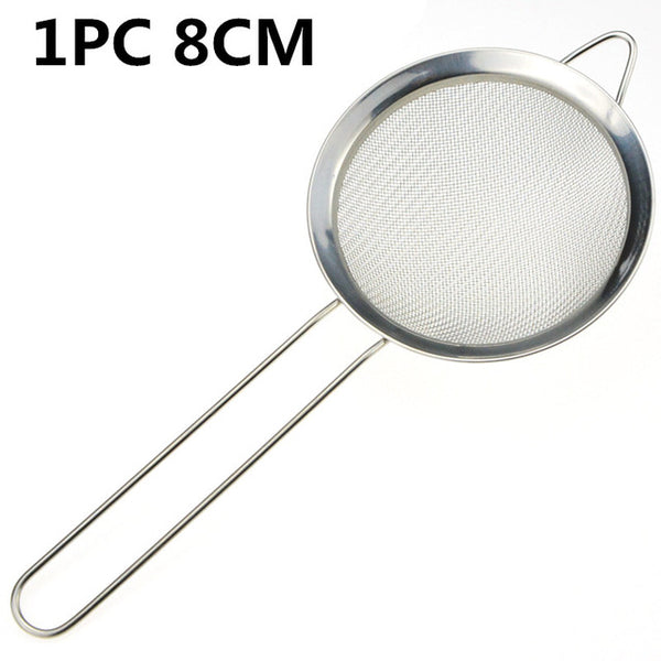 14/12/10/8/7CM Stainless Steel Wire Fine Mesh Sieve Oil Strainer Flour Colander Sifter DIY Kitchen Tools for Filtering Food