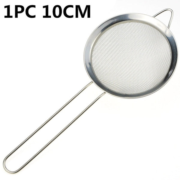 1pc Multi-functional Stainless Steel Fine Mesh Oil Strainer Flour Sifter Sieve Colander Kitchen Tool For Fruit Vegetables Filter