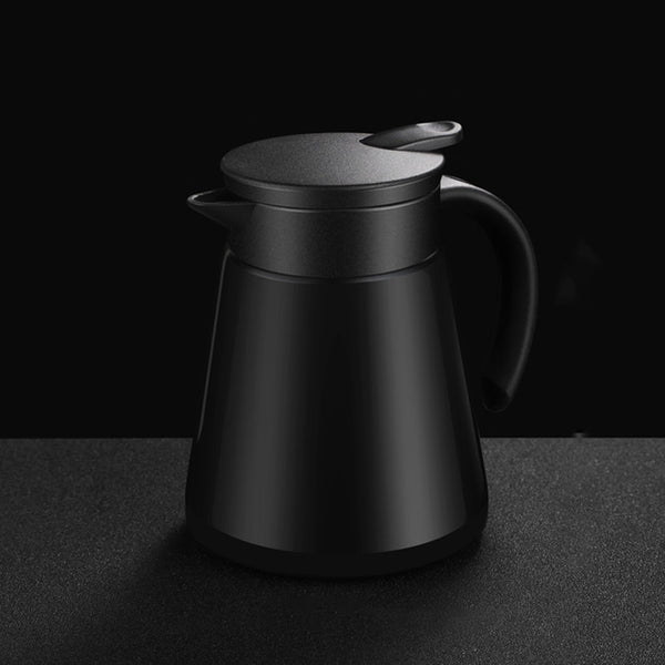 680ml Insulated Coffee Bottle Pressing Stainless Steel Thermal Insulation Kettle Water Pot Vacuum Flask Kettles Jug Home Kitchen