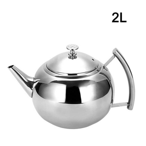Teapot Container Coffee Pot Kettle Filter Induction Cooker Ball Shape Stainless Steel Durable Teapot Coffee Maker for home Hotel
