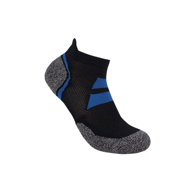 3G-Bamboo Ankle Sock - BLACK / BLUE