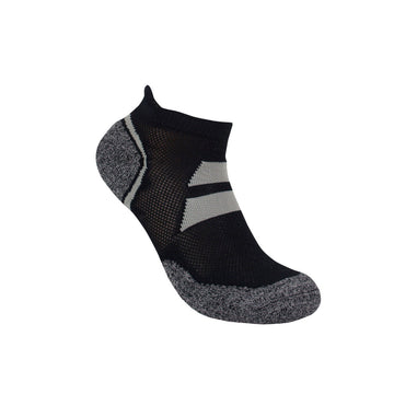 3G-Bamboo Ankle Sock - BLACK / GREY