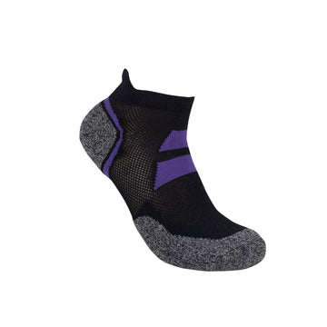 3G-Bamboo Ankle Sock - BLACK / PURPLE