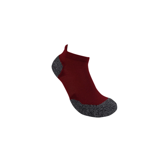 3G-Bamboo Ankle Sock - BURNT RED