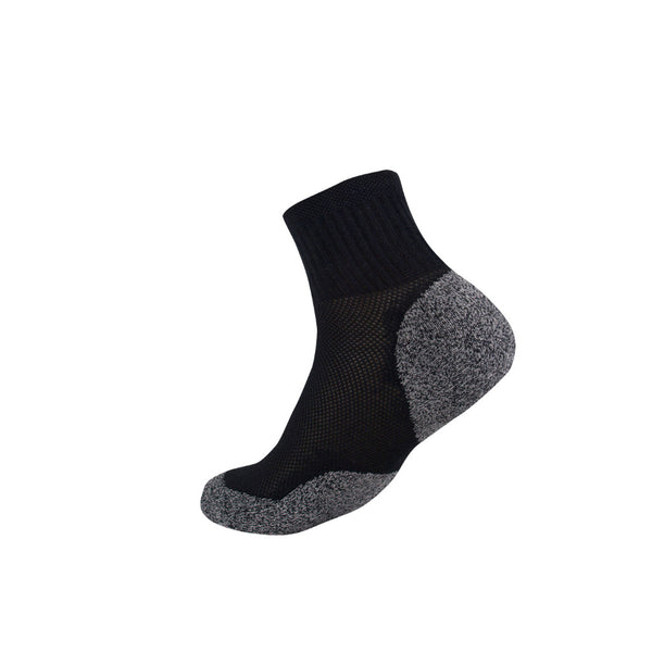 3G-Bamboo Quarter Sock - BLACK
