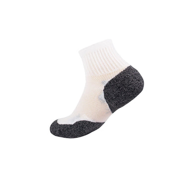 3G-Bamboo Quarter Sock - WHITE