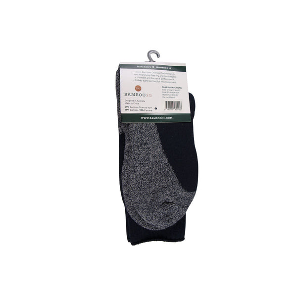 3G-Bamboo Thick Work Sock - BLACK