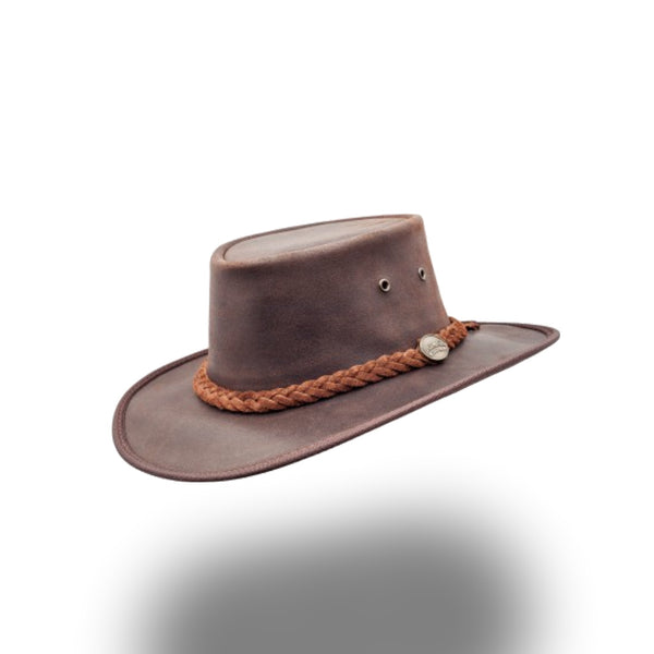 BARMAH HAT 1024-Squashy Oiled - Dark Brown