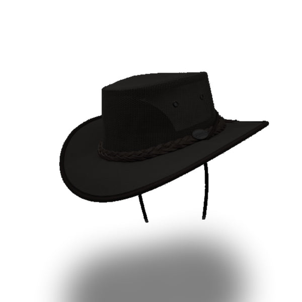 BARMAH HAT 1057-Canvas Drover - Black