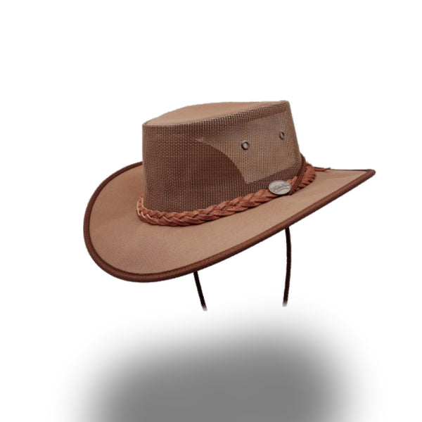 BARMAH HAT 1057-Canvas Drover - Brown
