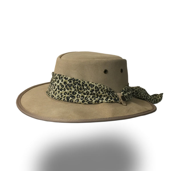 BARMAH HAT 1066-Ladies Suede - Mocca