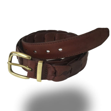 2251-Kangaroo Leather Belts - Broken Hill - BROWN