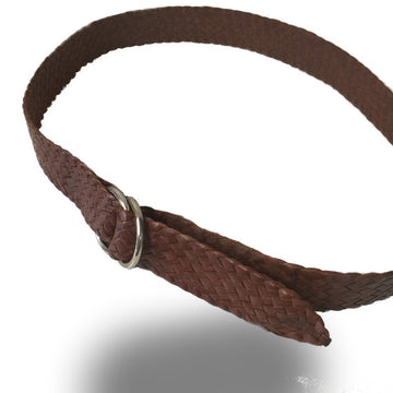 2252-Kangaroo Leather Belts - Stockman - BROWN