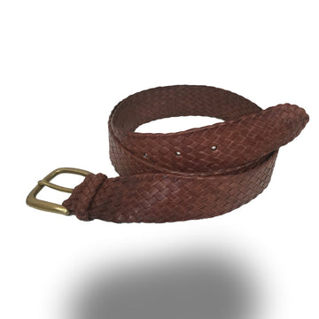 2253-Kangaroo Leather Belts - Balmain - BROWN