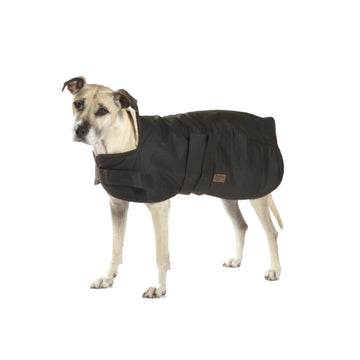 Burke & Wills Oilskin Clothing - Oilskin Dog Coat with Sherpa Lining