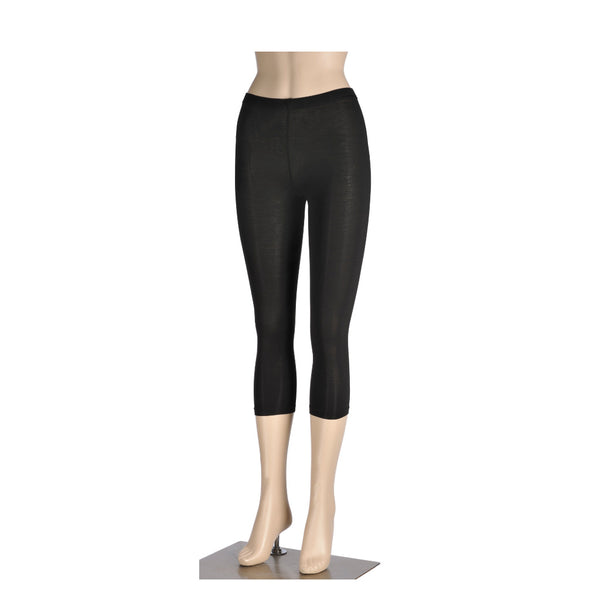 KG-Bamboo Women's 3/4 Length Leggings - 3/4 BLACK