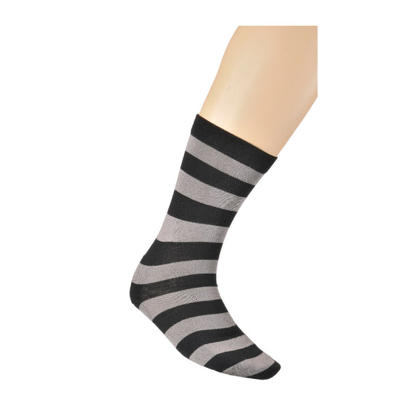 KG-Bamboo Men's Business Sock - BLACK/GREY STRIPE
