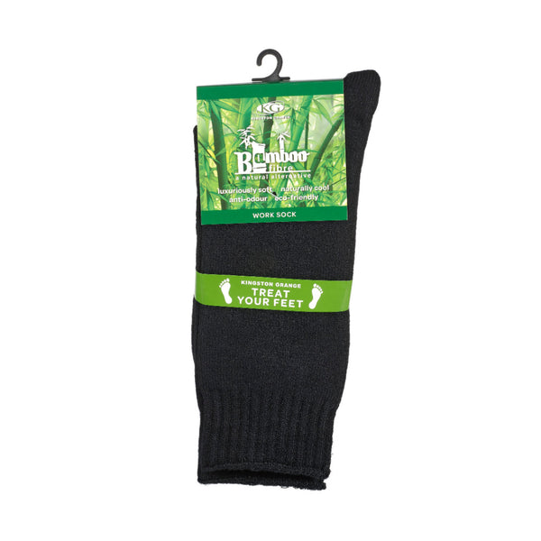 KG-Bamboo Men's Work Sock - BLACK