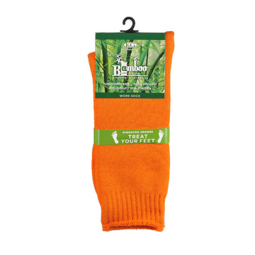 KG-Bamboo Men's Work Sock - ORANGE
