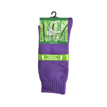 KG-Bamboo Men's Work Sock - PURPLE