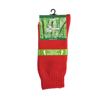 KG-Bamboo Men's Work Sock - RED